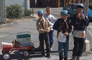 Scouts from Pack 2 (Saxonville), 1997 Marathon, photo #2