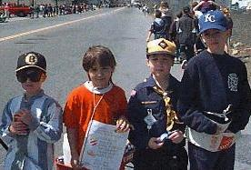 Scouts from Pack 2 (Saxonville), 1997 Marathon