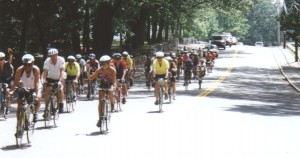 PHOTO 2 - Riders return to Framingham, American Diabetes Association's New England Classic, 1997
