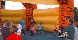 kids in moonwalk at Framingham Blues Festival 1997