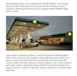 PHOTO - BP's solar gas station