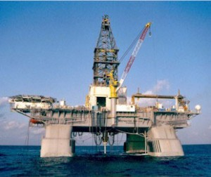 Photo of Deepwater Horizon oil drilling rig prior to it exploding in the Gulf of Mexico on Tuesday April 20, 2010