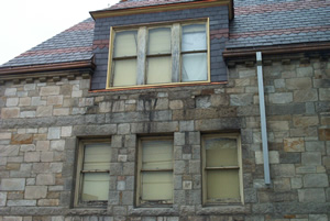 Windows at Edgell Memorial Library