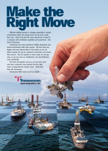Transocean ad, ''Make the right Move''