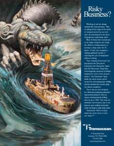 Transocean ad titled ''Risky Business''