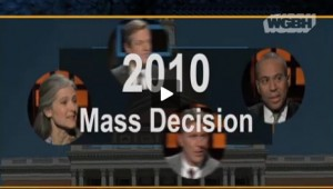 screen capture - Emily Rooney, WGBH 2010 Mass Decision segment intro