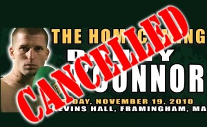 Framingham boxing match cancelled.