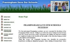 Framingham Save Our Schools website