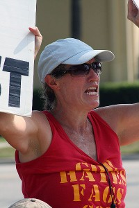 Shirley Phelps of the hate group that calls itself the Westboro Baptist Church
