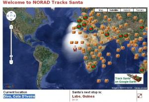 2010 - NORAD Santa Tracker - The Big Map