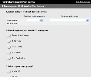 2011 Framingham Master Plan Survey