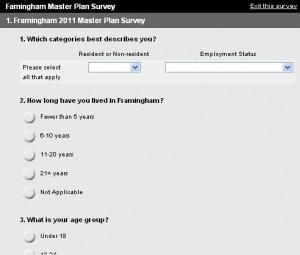 2011 Framingham Master Plan Survey