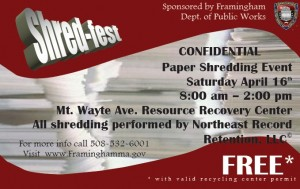 2011 Shred-Fest -- Framingham paper recycling event.