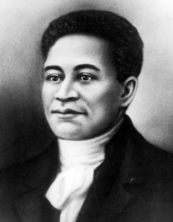 Portrait of Crispus Attucks.