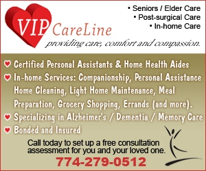 VIP Care Line, home health aides, personal assistants, in-home services for seniors, specializing in elder care for Alzheimers and dementia and , Framingham, MA